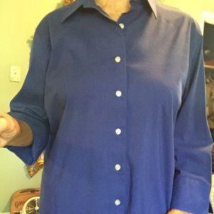 Lands' End blouse, easy care cotton size 14.